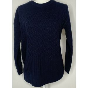 NWT MADEWELL Patchwork Knitted Crewneck Sweater XS